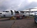 BAE 146-300 ON OUR OWN DESIGN BELLY STANDS 2